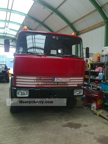 1975 Magirus Deutz  FM 170 D 11 FA Truck over 7.5t Chassis photo