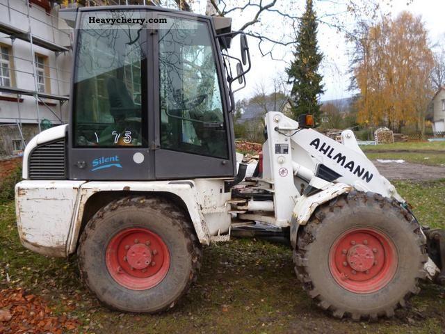 1999 Ahlmann  AL 75 Construction machine Wheeled loader photo