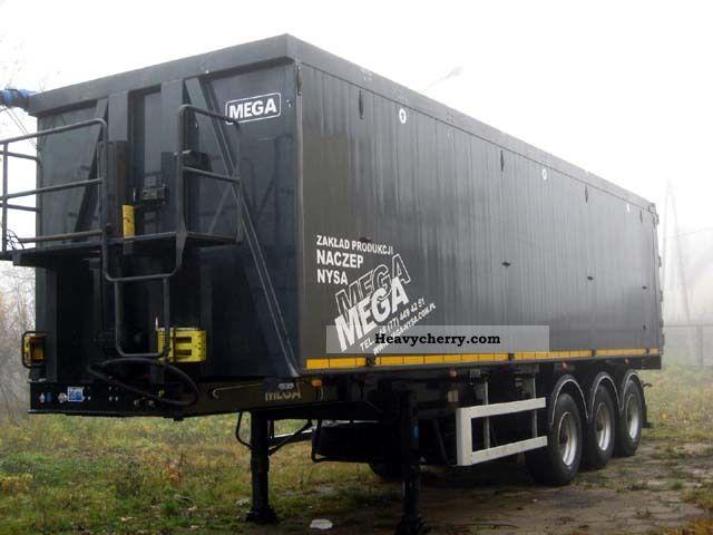 2010 MEGA  50 m3 tipper aluminum - like new! Semi-trailer Tipper photo