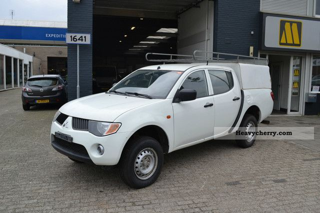2008 Mitsubishi  L200 2.5 Di-D 4X4 / Double Cab / Air / 2008 Van or truck up to 7.5t Stake body photo