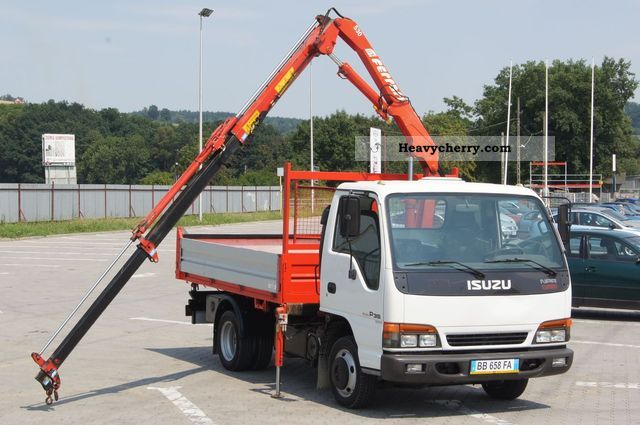 Isuzu Npr P Way Tipper Hds Crane Gru Lgw on 2003 Isuzu Npr Radio
