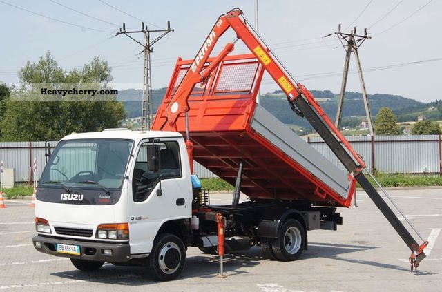 2002 Isuzu  NPR P35 * 3-way tipper + HDS / CRANE / GRU * Van or truck up to 7.5t Three-sided Tipper photo