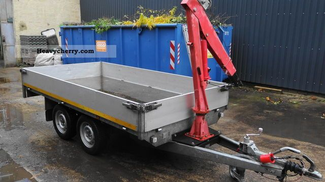 Platform 2 ton hydraulic crane 2008 Trailer Platform on semi tractor trailer weight