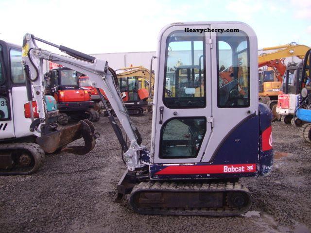 2001 Bobcat  322 Construction machine Mini/Kompact-digger photo
