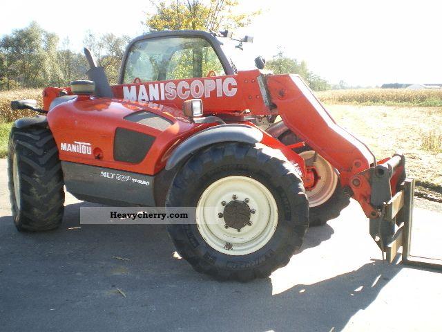 2002 Manitou  MANITOU MLT 629 TURBO 110 HP, 6-m radius - 2.9 tonnes Forklift truck Telescopic photo