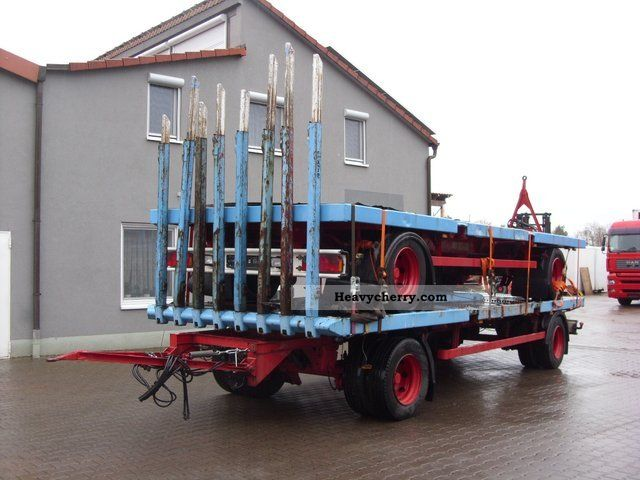 2003 Doll  RTL ROESSEL 18t. Wood Hydr.Zurr system-8 stakes Trailer Timber carrier photo
