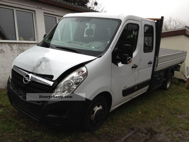 2011 Opel  Movano flatbed 7 seats Zwillingsbereift Maxi Van or truck up to 7.5t Stake body photo