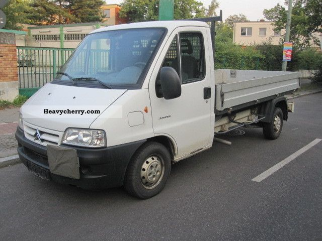 2012 Citroen  Citroën Citroën Jumper 2.8 Long 1Hand flatbed Van or truck up to 7.5t Stake body photo