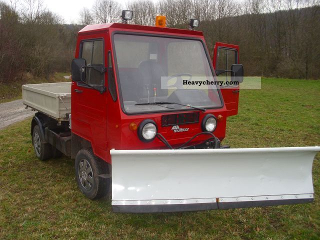 1992 Multicar  M25 4x4 Van or truck up to 7.5t Three-sided Tipper photo