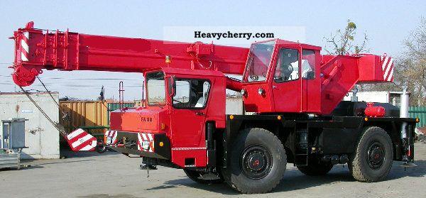 1988 Faun  RTF 30 mobile crane 30t/32m 4x4 Truck over 7.5t Truck-mounted crane photo