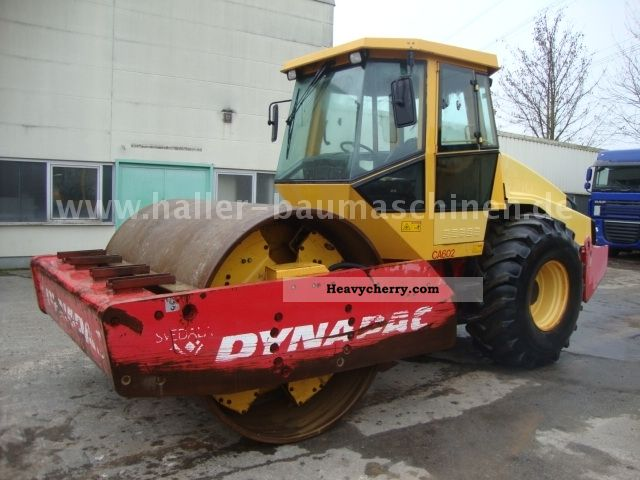 1999 Dynapac  CA 602D smooth drum compactor Construction machine Rollers photo