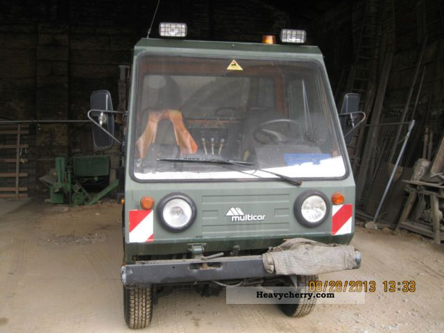 1991 Multicar  M26 spreader Van or truck up to 7.5t Dumper truck photo
