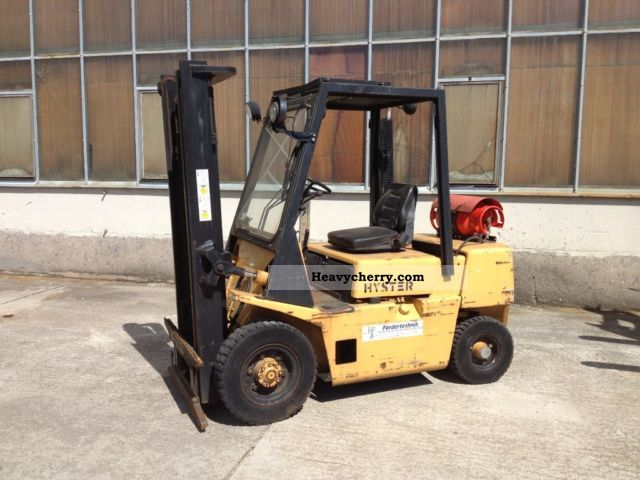1990 Hyster  H2.50XL Capacity 2.5t gas Forklift truck Front-mounted forklift truck photo